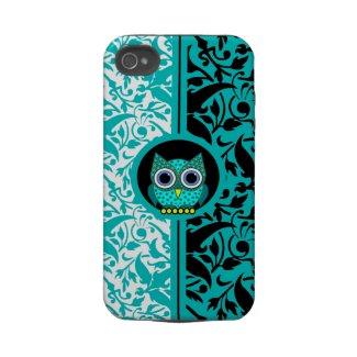 damask pattern with owl iPhone 4 case casematecase