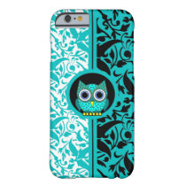 damask pattern with owl iPhone 6 case
