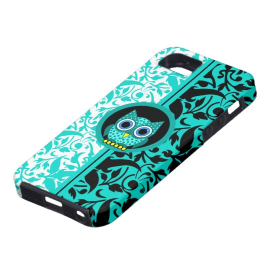 damask pattern with owl iPhone SE/5/5s case