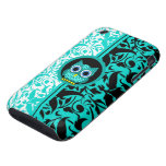 damask pattern with owl tough iPhone 3 cases