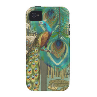Damask Peacock & Feather You Choose Color iPhone 4/4S Cases