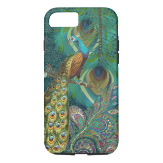 Damask Peacock & Feather You Choose Color iPhone 7 Case