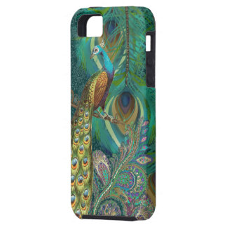 Damask Peacock & Feather You Choose Color iPhone SE/5/5s Case