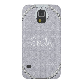 Damask, Pearls and Ribbon Design Galaxy S5 Case