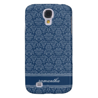 Damask Pern (navy) Samsung Galaxy S4 Cover