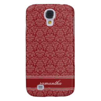 Damask Pern (red) Samsung Galaxy S4 Case