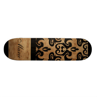 Damask Personalize Name Skateboard Decks