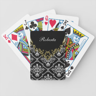 Damask Personalized Playing Cards