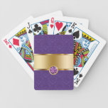 Damask Personalized Playing Cards Bicycle Playing Cards