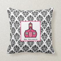 Damask Personalized Teacher Pillow