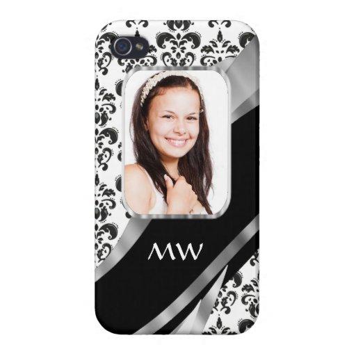 Damask photo background iPhone 4 case