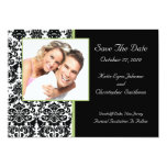 """Damask Photo Save The Date Announcement 5"""" X 7"""" Invitation Card"""