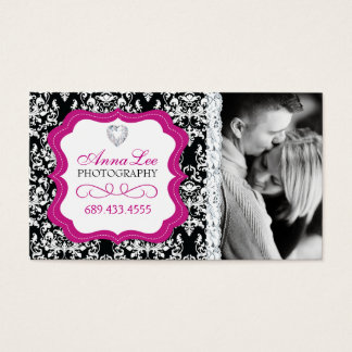 Damask Photographer Business Cards