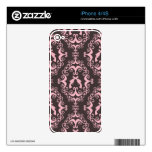 Damask pink black guns grunge western pistols chic decal for the iPhone 4S