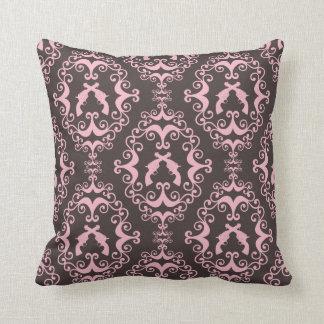 Damask pink black guns grunge western pistols chic pillows