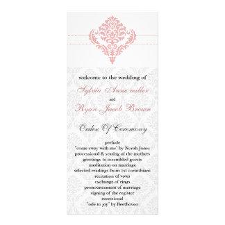 damask  pink Wedding program
