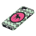 Damask Pit Bull Love iPhone Case