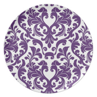 Damask Party Plates