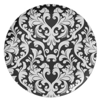 Damask Party Plate