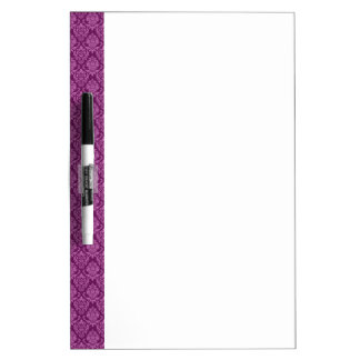 Damask Plum Berry Pattern Dry Erase Whiteboards