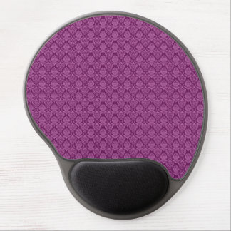 Damask Plum Berry Pattern Gel Mouse Pad