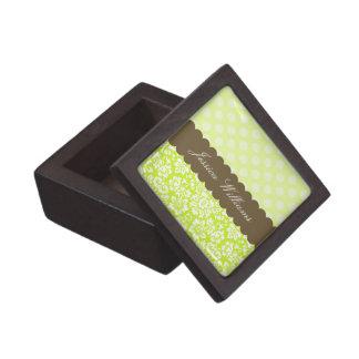 Damask Polka Dots Premium Jewelry Box