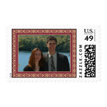Damask Postage with custom picture