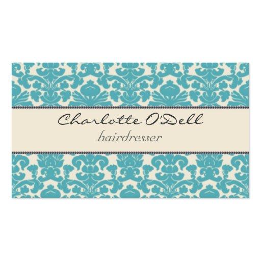 damask print business card