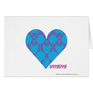Damask Purple-Aqua 3 Card