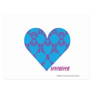 Damask Purple-Aqua 3 Postcard