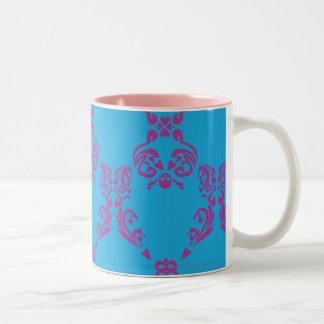 Damask Purple-Aqua Coffee Mug