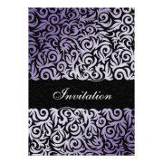 purple swirls wedding invites by mgdezigns