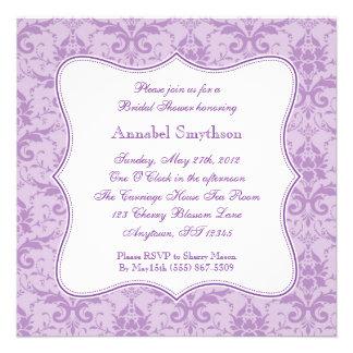 Damask Purple Elegance Invitation