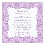 "Damask Purple Elegance Invitation 5.25"" Square Invitation Card"