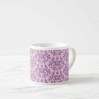 Damask purple espresso mug