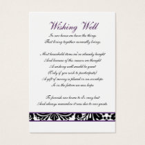 damask purple wishing well cards