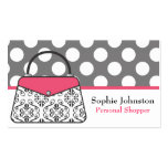 Damask Purse Handbag Business Calling Cards Double-Sided Standard Business Cards (Pack Of 100)