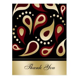damask  red ThankYou Cards
