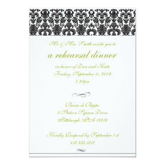 Damask Rehearsal Dinner Invitation