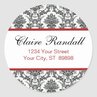 Damask Return Address Label  (#LABL 009)