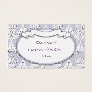 Damask Ribbon Business Card (Purple)