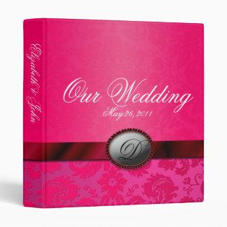 Damask Ribbon Pink Wedding Album Binder