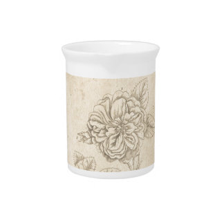Damask Rose Beverage Pitcher