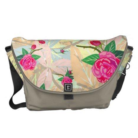 Damask rose courier bag