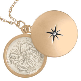 Damask Rose Gold Plated Necklace