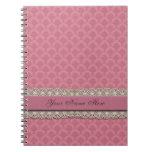 Damask Rose Note Book