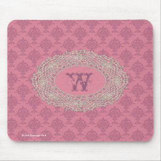 Damask Rose Pink Mouse Pad