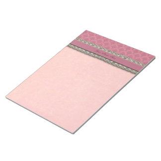 Damask Rose Pink Notepad