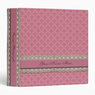 Damask Rose Pink Tones Binder