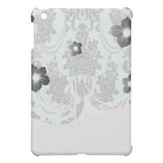 damask roses light blue and black.ai iPad mini cover